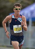 CAPE TOWN, SOUTH AFRICA - OCTOBER 08: Wayne Snyman of AGN (Olympian) in the senior mens 10km but he was later disqualified for not wearing his age category badge during the ASA 50km and Interprovincial Race Walking Championships at Youngsfield Military base on October 08, 2016 in Cape Town, South Africa. (Photo by Roger Sedres/Gallo Images)