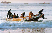 Fishermen and Boat - Dakar Beach Senegal