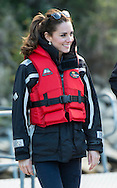 Prince William and Catherine, Duchess of Cambridge travel on the Shotover Jet along the Shotover River<br /> during their tour of Australia and New Zealand.