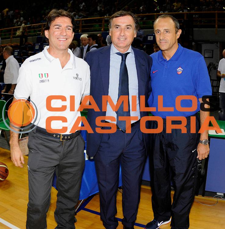 DESCRIZIONE : Modena Lega A 2012-2013  Precampionato Saie3 Virtus Bologna CSKA Mosca<br /> GIOCATORE : Coach Ettore Messina con Coach Alessandro Finelli Saie3 Virus Bologna<br /> CATEGORIA : Coach<br /> SQUADRA : CSKA Mosca<br /> EVENTO : Amichevole Precampionato Lega A 2012-2013<br /> GARA : Saie3 Virtus Bologna CSKA Mosca<br /> DATA : 06/09/2012<br /> SPORT : Pallacanestro<br /> AUTORE : Agenzia Ciamillo-Castoria/A.Giberti<br /> GALLERIA : Lega Basket A 2012-2013<br /> FOTONOTIZIA : Sondrio Lega A 2012-2013  Precampionato Saie3 Virtus Bologna CSKA Mosca<br /> PREDEFINITA :
