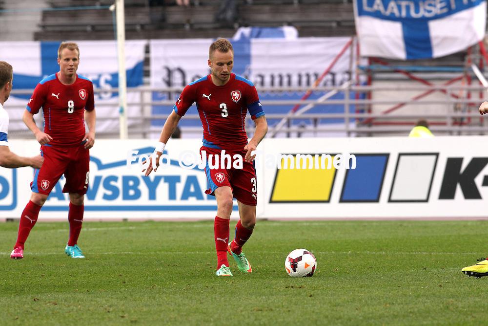 21.5.2014, Olympic Stadium, Helsinki, Finland.<br /> Friendly International match Finland v Czech Republic.<br /> Michal Kadlec - Czech Rep.