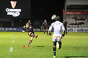 Jaco van der Walt converts panalty during the Guinness Pro 14 2017_18 match between Edinburgh Rugby and Southern Kings at Myreside Stadium, Edinburgh, Scotland on 5 January 2018. Photo by Kevin Murray.