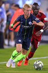 July 25, 2018 - East Rutherford, NJ, U.S. - EAST RUTHERFORD, NJ - JULY 25:   Manchester City midfielder Oleksandr Zinchenko (35) during the second half of the International Champions Cup Soccer game between Liverpool and Manchester City on July 25, 2018 at Met Life Stadium in East Rutherford, NJ.  (Photo by Rich Graessle/Icon Sportswire) (Credit Image: © Rich Graessle/Icon SMI via ZUMA Press)
