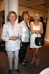 Left to right, LADY MANTON, LADY HESKETH and the HON.SOPHIA HESKETH at the Sotheby's Summer Party 2007 at their showrooms in New Bond Street, London on 4th June 2007.<br />