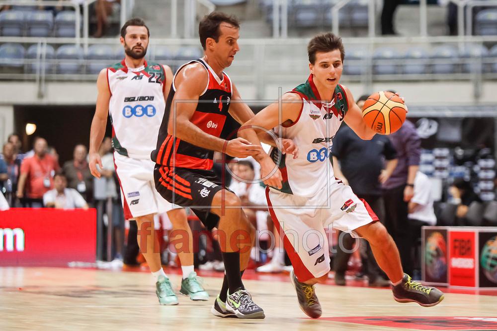 RODRIGO TRELLES (d) E MARCELINHO MACHADO (e) partida entre Flamengo x Aguada-URU  válida pela semi final da final four 2014 da Liga das Américas realizada no ginásio do maracanãzinho, zona norte da cidade, Rio de Janeiro, RJ.