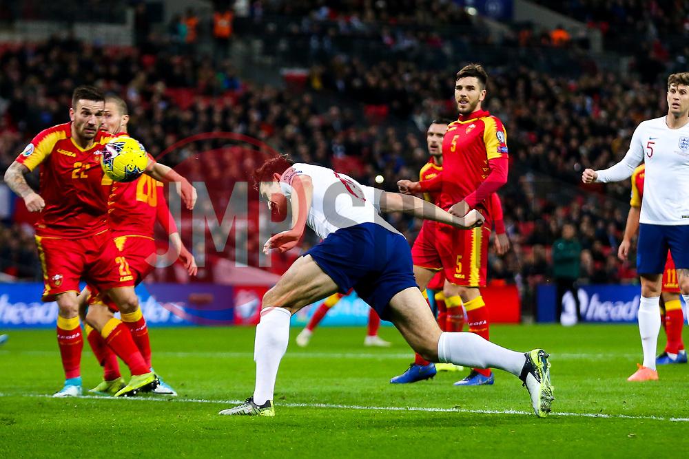 Harry Maguire of England shoots - Rogan/JMP - 14/11/2019 - FOOTBALL - Wembley Stadium - London, England - England v Montenegro - UEFA Euro 2020 Qualifiers.