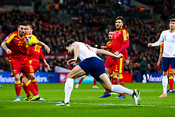 Harry Maguire of England shoots - Rogan/JMP - 14/11/2019 - FOOTBALL - Wembley Stadium - London, England - England v Montenegro - UEFA Euro 2020 Qualifiers.