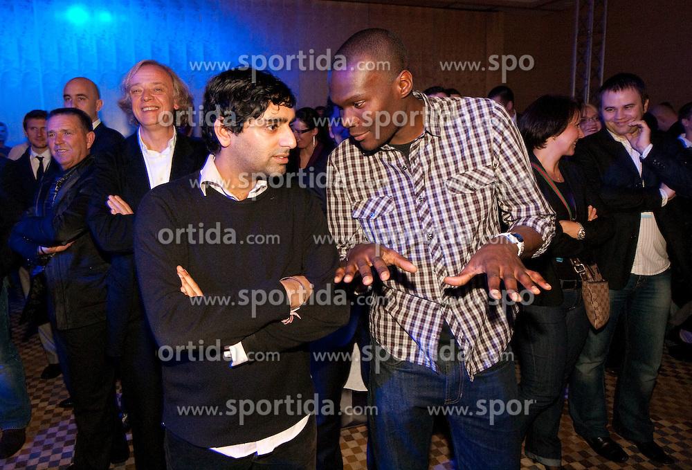Samir Singh and John Olaleye of FC Arsenal during Sporto  2010 Gala Dinner and Awards ceremony at Sports marketing and sponsorship conference, on November 29, 2010 in Hotel Slovenija, Portoroz/Portorose, Slovenia. (Photo By Vid Ponikvar / Sportida.com)