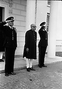 02/08/1962<br /> 08/02/1962<br /> 02 August 1962<br /> Indian Ambassador presents credentials at Aras an Uachtarain. New Indian Ambassador Mr Mohammedali Currim Chagha presented his letters of Credence to President Eamon de Valera. Picture shows Ambassador Mr Mohammedali Currim Chagha Leaving the Aras after the ceremony.