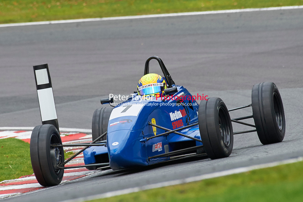 #7 Martin Short Van Diemen JL012K during Avon Tyres Formula Ford 1600 Northern Championship - Prost 89 Race 2 as part of the BRSCC Fun Cup Oulton Park 17th October 2015 at Oulton Park, Little Budworth, Cheshire, United Kingdom. October 17 2015. World Copyright Taylor/PSP. Copy of publication required for printed pictures.  Every used picture is fee-liable. http://archive.petertaylor-photographic.co.uk