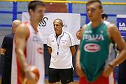 Ettore Messina<br /> Raduno Nazionale Maschile Senior<br /> Allenamento pomeriggio<br /> Cagliari, 04/08/2017<br /> Foto Ciamillo-Castoria/ GiulioCiamillo