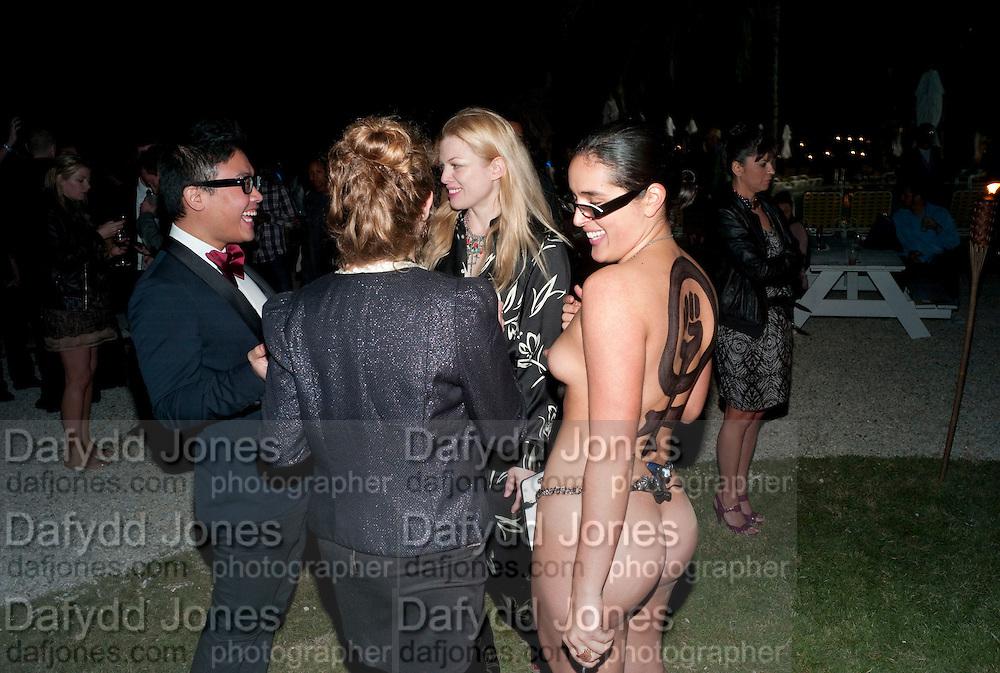 "EMILY ANN; MADDIE SIMPSON; ZEBI;, Neville Wakefield and Playboy host ÒNude as MuseÓ evening art salon. Standard Hotel.  Miami. 4 December 2010. -DO NOT ARCHIVE-© Copyright Photograph by Dafydd Jones. 248 Clapham Rd. London SW9 0PZ. Tel 0207 820 0771. www.dafjones.com.<br /> EMILY ANN; MADDIE SIMPSON; ZEBI;, Neville Wakefield and Playboy host ""Nude as Muse"" evening art salon. Standard Hotel.  Miami. 4 December 2010. -DO NOT ARCHIVE-© Copyright Photograph by Dafydd Jones. 248 Clapham Rd. London SW9 0PZ. Tel 0207 820 0771. www.dafjones.com."