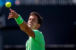 11-06-2019 NED: Libema Open, Rosmalen<br /> Grass Court Tennis Championships First round ATP / Aljaz Bedene (SLO)