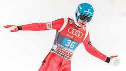 06.01.2016, Paul Ausserleitner Schanze, Bischofshofen, AUT, FIS Weltcup Ski Sprung, Vierschanzentournee, Bischofshofen, Finale, im Bild Denis Kornilov (RUS) // Denis Kornilov of Russian Federation reacts after his 1st round jump of the Four Hills Tournament of FIS Ski Jumping World Cup at the Paul Ausserleitner Schanze in Bischofshofen, Austria on 2016/01/06. EXPA Pictures © 2016, PhotoCredit: EXPA/ JFK
