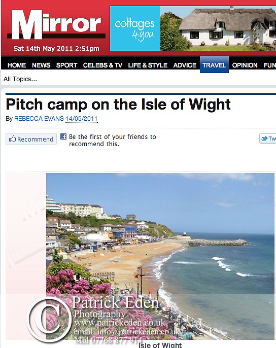 Ventnor, Isle of Wight, Daily Mirror, Article