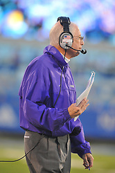 Oct 14, 2010; Lawrence, KS, USA; Kansas State Wildcats head coach Bill Snyder on the sidelines in the first half of the game against the Kansas Jayhawks at Memorial Stadium. Mandatory Credit: Denny Medley-US PRESSWIRE