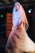 Sunjin Lee Designs at the Engaged Bridal Runway Event in Portland, OR.