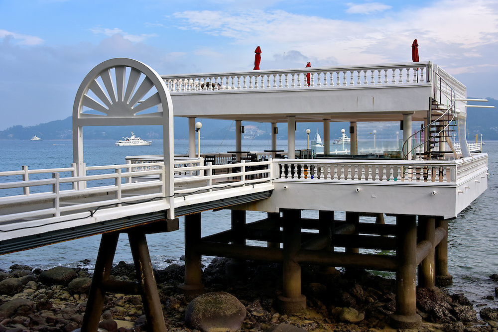 Pier Stretching into Patong Bay near Patong Beach in Phuket, Thailand <br />
