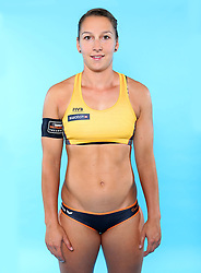 07.06.2016, Hamburg, GER, DVV Beachvolleyball, Fototermin, Nationalmannschaft, Olympische Spiele, Rio 2016, im Bild Julia Groflner (GER) // Julia Groflner of Germany during photocall of German Beach Volleyball team of German Cycling Federation for the Olympic games, Rio 2016. Hamburg, Germany on 2016/06/07. EXPA Pictures © 2016, PhotoCredit: EXPA/ Eibner-Pressefoto<br /> <br /> *****ATTENTION - OUT of GER*****