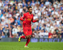 27.04.2014, Anfield, Liverpool, ENG, Premier League, FC Liverpool vs FC Chelsea, 36. Runde, im Bild Liverpool's Daniel Sturridge in action against Chelsea // during the English Premier League 36th round match between Liverpool FC and Chelsea FC at Anfield in Liverpool, Great Britain on 2014/04/27. EXPA Pictures © 2014, PhotoCredit: EXPA/ Propagandaphoto/ David Rawcliffe<br /> <br /> *****ATTENTION - OUT of ENG, GBR*****