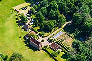 Nederland, Gelderland, Achterhoek, 29-05-2019; Doetinchem, Kasteel de Kelder gelegen in de Kruisbergse Bosschen. In gebruik voor onder andere activiteiten als trouwerijen. <br /> De 'Cellar Castle',  located in the Kruisbergse Bosschen.<br /> <br /> luchtfoto (toeslag op standard tarieven);<br /> aerial photo (additional fee required);<br /> copyright foto/photo Siebe Swart