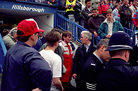 Kenny Dalglish Manager Liverpool comes out of Players Tunnel to make an announcement to the stadium<br />The Tragic FA Cup Semi Final between Liverpool Vs Nottingham Forest where Sadly 96 Liverpool fans lost their lives because of Overcrowding at the Hillsborough Stadium Sheffiled 15th April 1989<br />PHOTO ROBIN PARKER FOTOSPORTS INTERNATIONAL