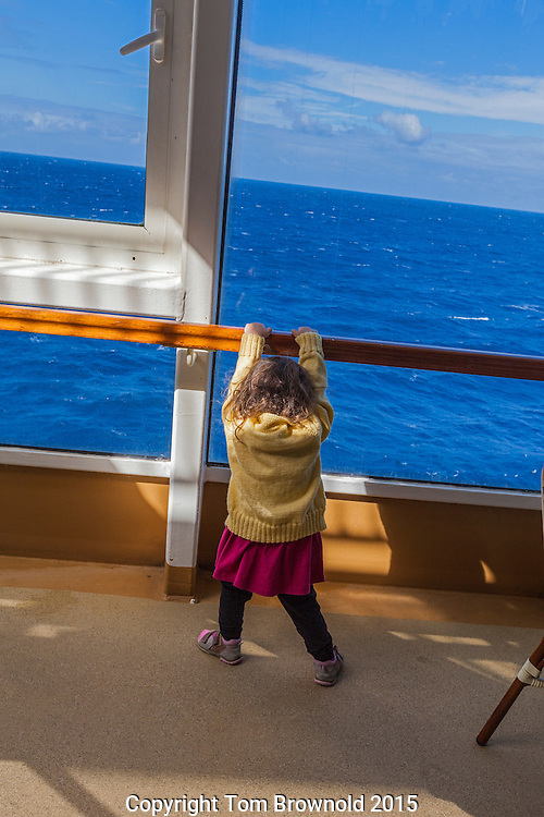 Rolling with the ship on the Atlantic ocean