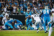 October 17, 2017: Carolina Panthers vs the Philadelphia Eagles. Cam Newton