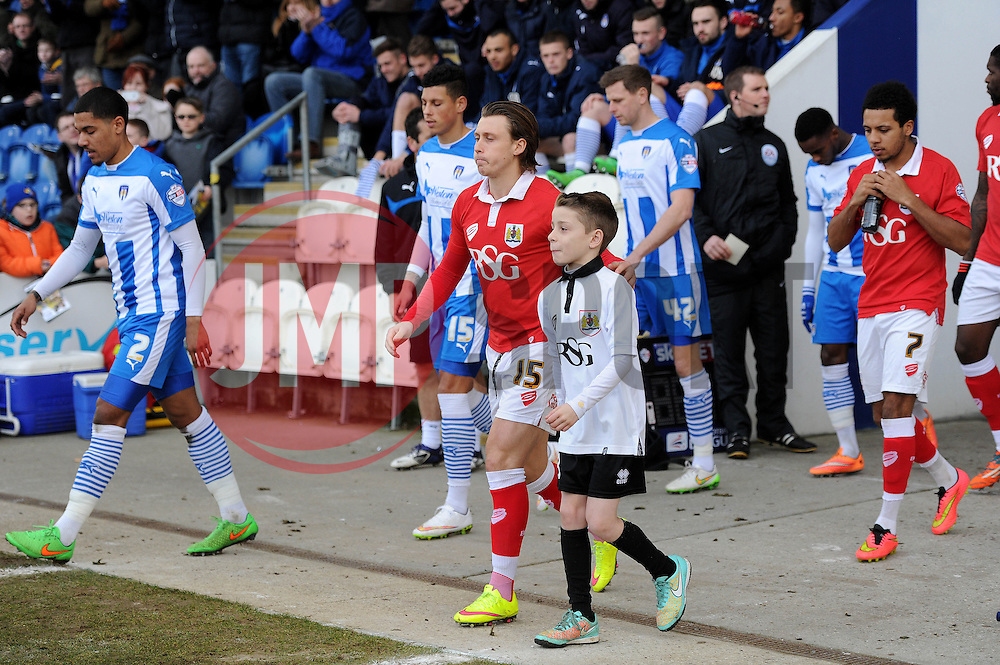 Mascot - Photo mandatory by-line: Dougie Allward/JMP - Mobile: 07966 386802 - 21/02/2015 - SPORT - Football - Colchester - Colchester Community Stadium - Colchester United v Bristol City - Sky Bet League One