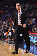 Apr 1, 2016; Phoenix, AZ, USA; Washington Wizards head coach Randy Wittman reacts to a call made in the first half against the Phoenix Suns at Talking Stick Resort Arena. Mandatory Credit: Jennifer Stewart-USA TODAY Sports