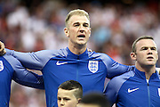 England Goalkeeper Joe Hart during the Round of 16 Euro 2016 match between England and Iceland at Stade de Nice, Nice, France on 27 June 2016. Photo by Andy Walter.