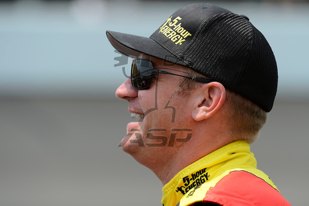 Brooklyn, MI - JUN 16, 2012: Clint Bowyer (15) during qualifying for the Quicken Loans 400 race at the Michigan International Speedway in Brooklyn, MI.