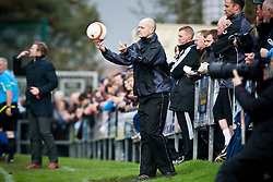 Annan Athletic's manager Harry Cairney..Annan Athletic 0 v 3 Falkirk. Semi Final of the Ramsdens Cup, 9/10/2011..Pic © Michael Schofield.