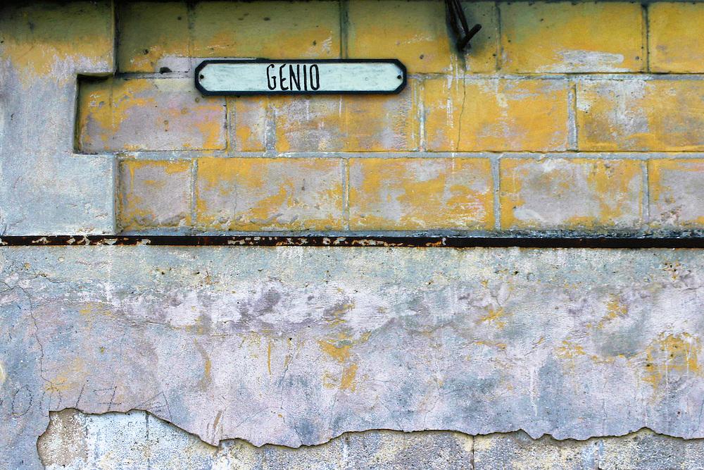 Wall in Havana Centro, Cuba.