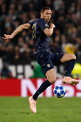 November 7, 2018 - Turin, Italy - Nemanja Matic of Manchester United in action during the Group H match of the UEFA Champions League between Juventus FC and Manchester United FC on November 7, 2018 at Juventus Stadium in Turin, Italy. (Credit Image: © Mike Kireev/NurPhoto via ZUMA Press)