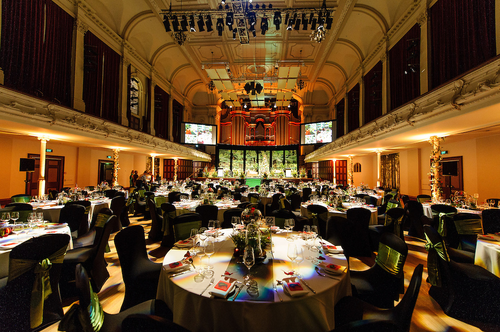 Room Setup Shots for the 2014 New Zealand Post Children's Book Awards: Auckland Town Hall. Monday 23 June 2014. <br /> <br /> Photo: Mark Tantrum / Booksellers New Zealand.