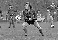 Dave McCreery, footballer, Manchester United FC & N Ireland, at a training session prior to N Ireland's November 1980 game against Portugal at Windsor Park. 19801100399e<br />