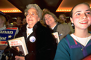 Pat Buchanan supporters at a rally.