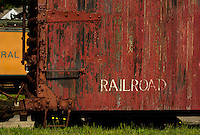 Railway cars in Tilton, NH.   © Karen Bobotas Photographer