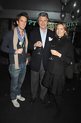 Left to right, DUNCAN STIRLING and ARNAUD & CARLA BAMBERGER at a party to celebrate the 1st birthday of nightclub Kitts, 7-12 Sloane Square, London on 5th March 2008.<br /><br />NON EXCLUSIVE - WORLD RIGHTS