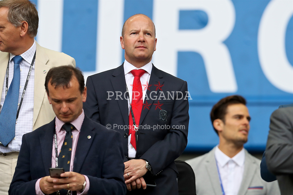 BORDEAUX, FRANCE - Saturday, June 11, 2016: FAW Chief-Executive Jonathan Ford during the UEFA Euro 2016 Championship match between Wales and Slovakia at Stade de Bordeaux. (Pic by David Rawcliffe/Propaganda)