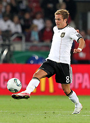 GER, Commerzbank Arena, GER, Stuttgart, FSP, LS, Deutschland (GER) vs Brasilien (BRA), im Bild .. Mario Götze (GER/Borussia Dortmund) // durch the friendly ship between Germany (GER) vs Brasil (BRA) in Commerzbank Arena, Stuttgart, on 2011/08/11 EXPA Pictures © 2011, PhotoCredit: EXPA/ nph/  Hessland       ****** out of GER / CRO  / BEL ******