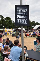 Latitude Festival, Henham Park, Suffolk, UK July 2018. Street Feast area