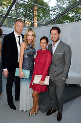 Left to right, FREDDIE FLINTOFF, RACHAEL FLINTOFF, LOUISE REDKNAPP and JAMIE REDKNAPP at the Glamour Women of the Year Awards in association with Pandora held in Berkeley Square Gardens, London on 4th June 2013.