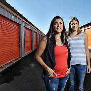 Ian Stewart/Yukon News<br /> Lara-Rae Grant, left and Kristin Trotter are co-managers of the Northstar Mini-storage empire in Whitehorse.