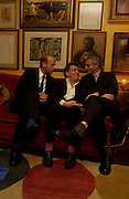 Bernardo Bertolucci, Stephen Daldry and  Eric Felner. Artists Independent Networks  Pre-BAFTA Party at Annabel's co hosted by Charles Finch and Chanel. Berkeley Sq. London. 11 February 2005. . ONE TIME USE ONLY - DO NOT ARCHIVE  © Copyright Photograph by Dafydd Jones 66 Stockwell Park Rd. London SW9 0DA Tel 020 7733 0108 www.dafjones.com