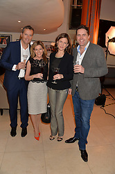 Left to right, GRAY SMITH, ANDREA CATHERWOOD, KATIE DERHAM and JOHN VINCENT at the Costa Book Awards 2013 held at Quaglino's, 16 Bury Street, London on 28th January 2014.