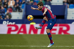 January 14, 2018 - Valencia, Valencia, Spain - Coke of Levante UD controls the ball during the La Liga game between Levante UD and Real Club Celta de Vigo at Ciutat de Valencia stadium on January 14, 2018 in Valencia, Spain  (Credit Image: © David Aliaga/NurPhoto via ZUMA Press)