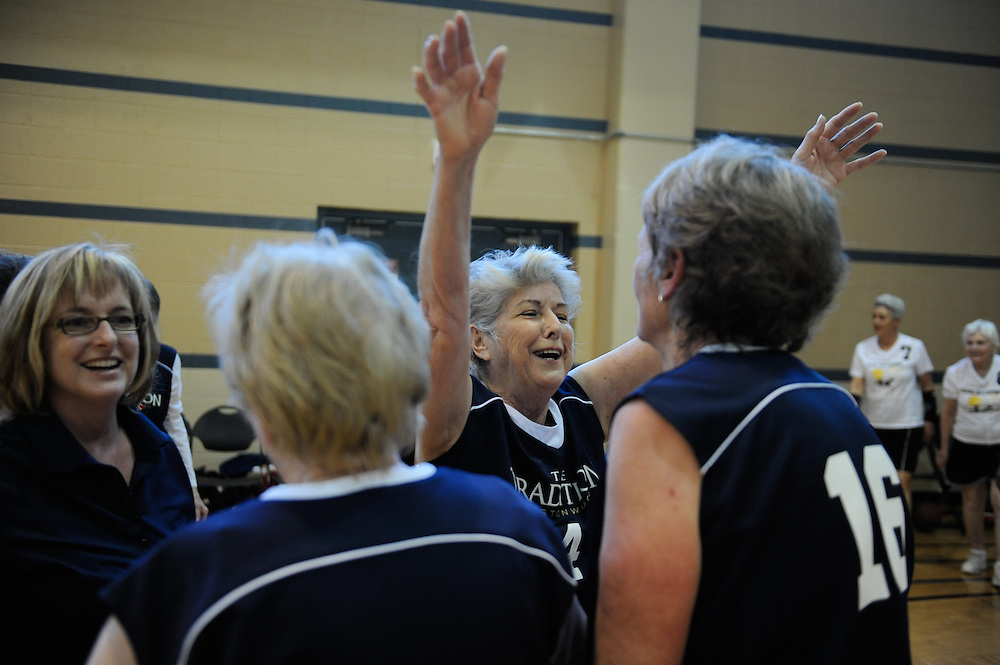 Women's 3-on-3 basketball at the Texas State Senior Games Friday, March 23, 2012 in San Antonio. Photo©Bahram Mark Sobhani