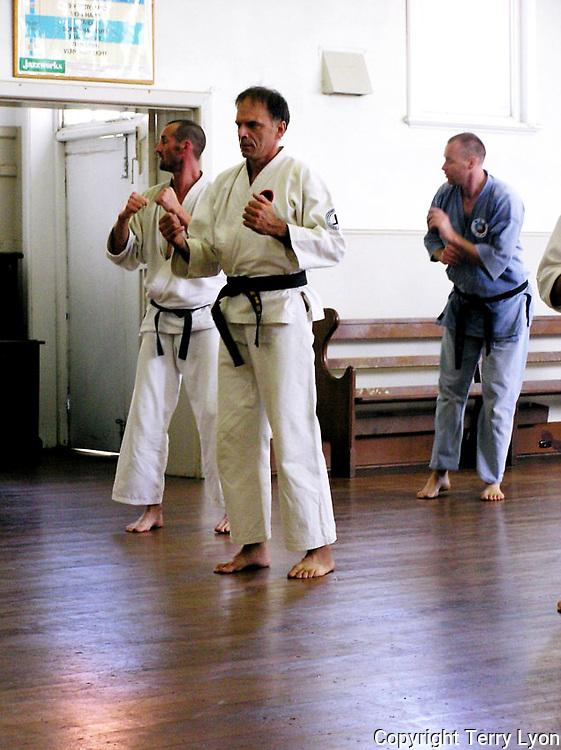 Photographs taken from 1985 to 2009 at various Dojo of Sensei Terry Lyon 6th Dan, Training sessions, Gasshuku with Sensei Graham Ravey 7th Dan,Sensei Morio Higaonna 10th Dan, Cottesloe Dojo.
